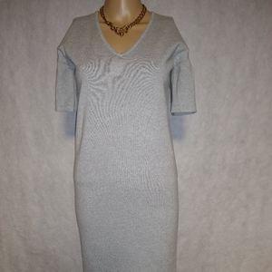 Lauren Ralph Lauren Bell Sleeve Gray Dress NWT